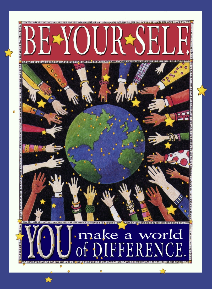 Be Yourself/ greeting card