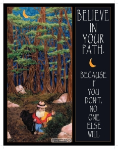 "Believe in Your own Path, marker and colored pencil, 11"" x 14"", janet balboa"