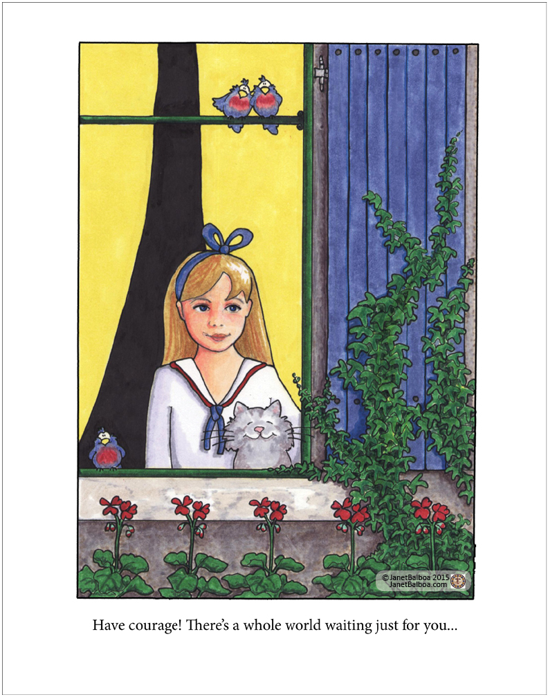 Courage,/ greeting card