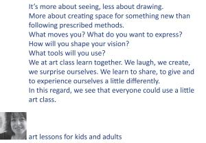 art class description.indd