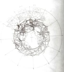 blue lotus sketch