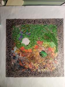 JanetBalboa c.2014 Marker on marker paper 12 x 12